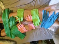 Handshoenen slaaf
